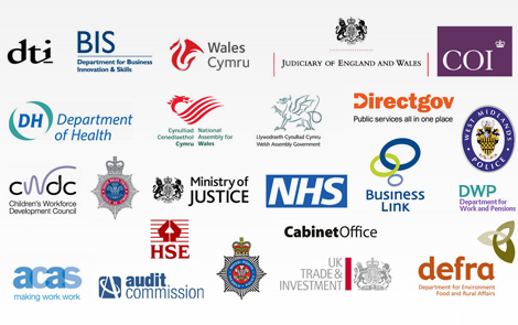 British public sector logos - G-Cloud