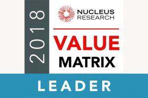 2018年 Nucleus Research アナリティクスバリューマトリックスでトップに選出