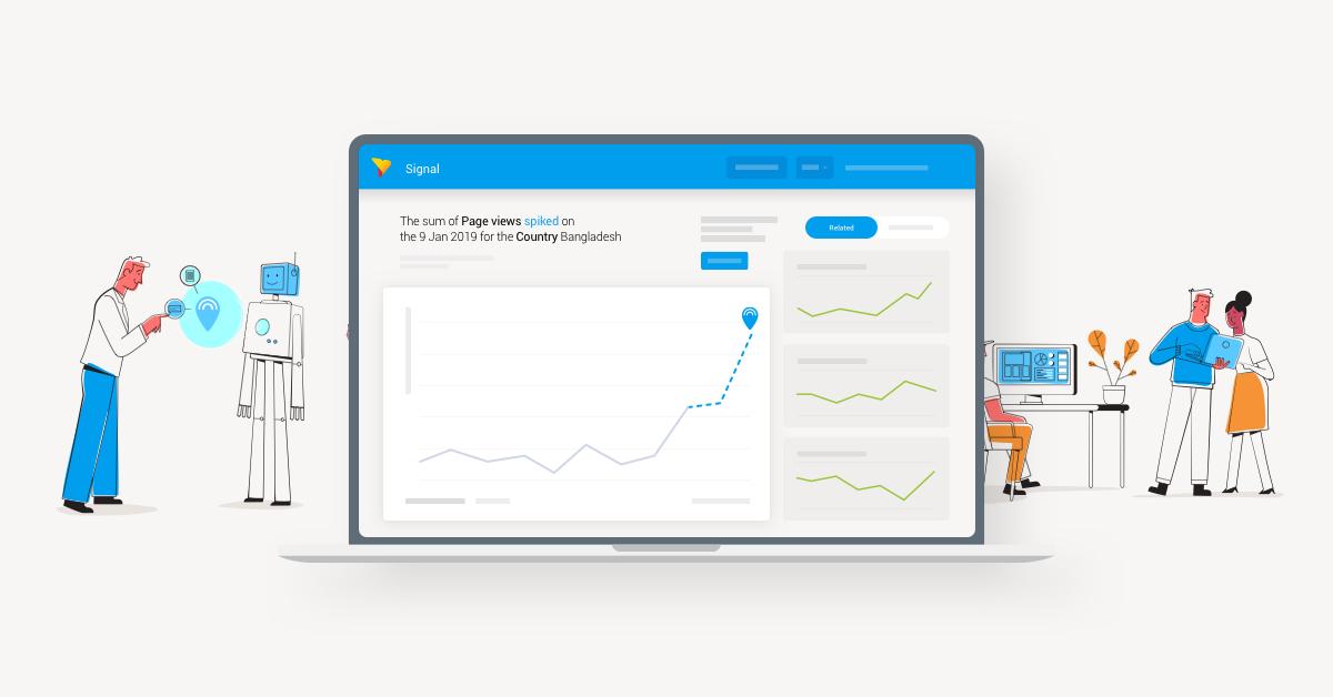 Yellowfin シグナル:Google Analytics データから重要な変化を発見