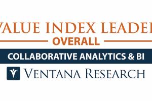 Ventana Research コラボレーティブアナリティクスおよび BI で Value Index リーダーに選出
