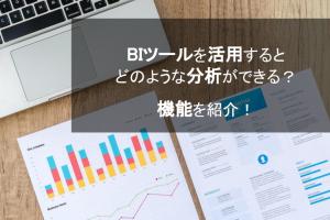 BIツールを活用するとどのような分析ができるのか?機能を紹介